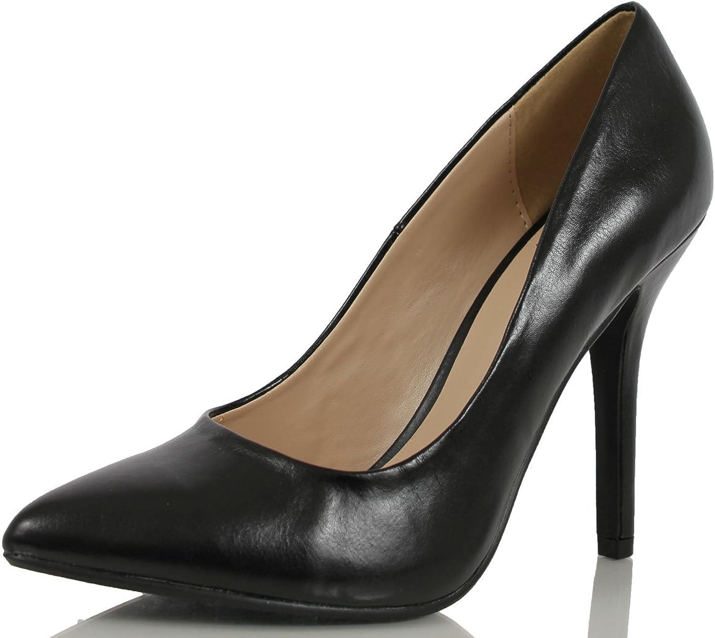 Delicious Womens Date-H Fashion Pumps-shoes,Black Pu,7.5