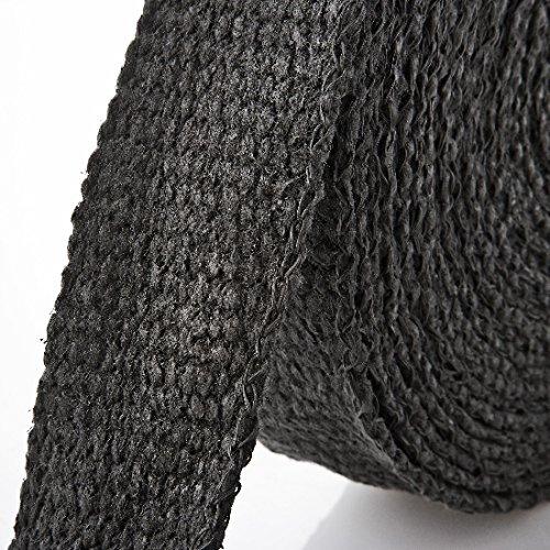Arlows 15m Keramik Hitzeschutzband schwarz (Breite: 50mm) + 10 V2A Kabelbinder (Länge: 250mm)