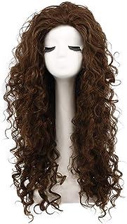 Karlery Women`s Fluffy Curly Dark Brown wig Halloween Cosplay Wig Anime Costume Party Wig