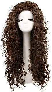 Karlery Women's Fluffy Curly Dark Brown wig Halloween Cosplay Wig Anime Costume Party Wig