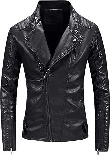 Kstare Mens Leather Jacket Goth Trench Coat Steampunk Punk Men Jackets Faux Gothic Coats Winter Overcoat Windbreaker