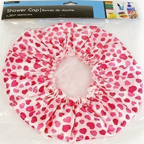 The Home Fusion Company Femmes Filles Rose Design Cœur Douche Chapeau Imperméable Salle