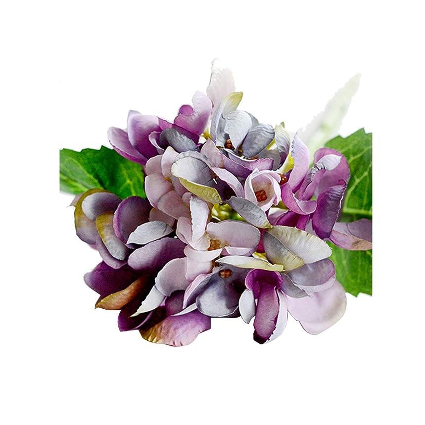 クレジットアスレチック順応性のある造花 アジサイ 6本セット 上質な造花 インテリア 結婚式  アレンジ 31CM 貝殻 アリス ハイドレンジア (パープル)
