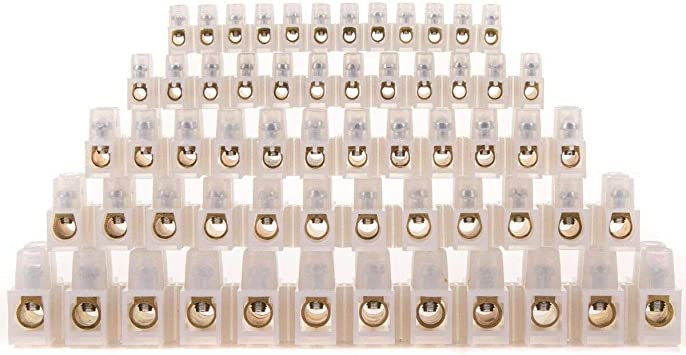 Connector Strip 3,5,10,15,30 Amp 12 way Electrical Terminal Strips Choc Block