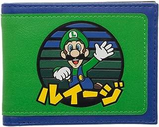 Luigi Japanese Logo Bi-Fold Wallet, Green, Medium