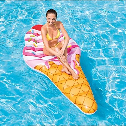 IF.HLMF Flotador de helado inflable con forma de anillo de natación para adultos y niños