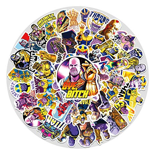 YMSD [51 piezas] Thanos PVC fresco impermeable película y graffiti calcomanías, pegatinas de dibujos animados para niñas VSCO, lindas pegatinas de televisión para regalos infantiles