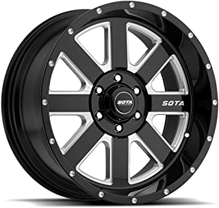 SOTA Offroad 569DM A.W.O.L. Death Metal Gloss Black w/Full CNC Milling Wheel with Painted Finish (20 x 9. inches /6 x 135 mm, 0 mm Offset)