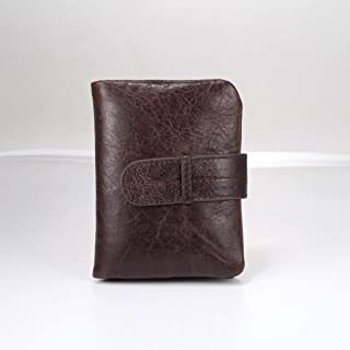 Men'S Handmade Pu Leather Long Wallet Retro First Layer Of Leather Zipper Men And Women Handbag Business Male Wallet