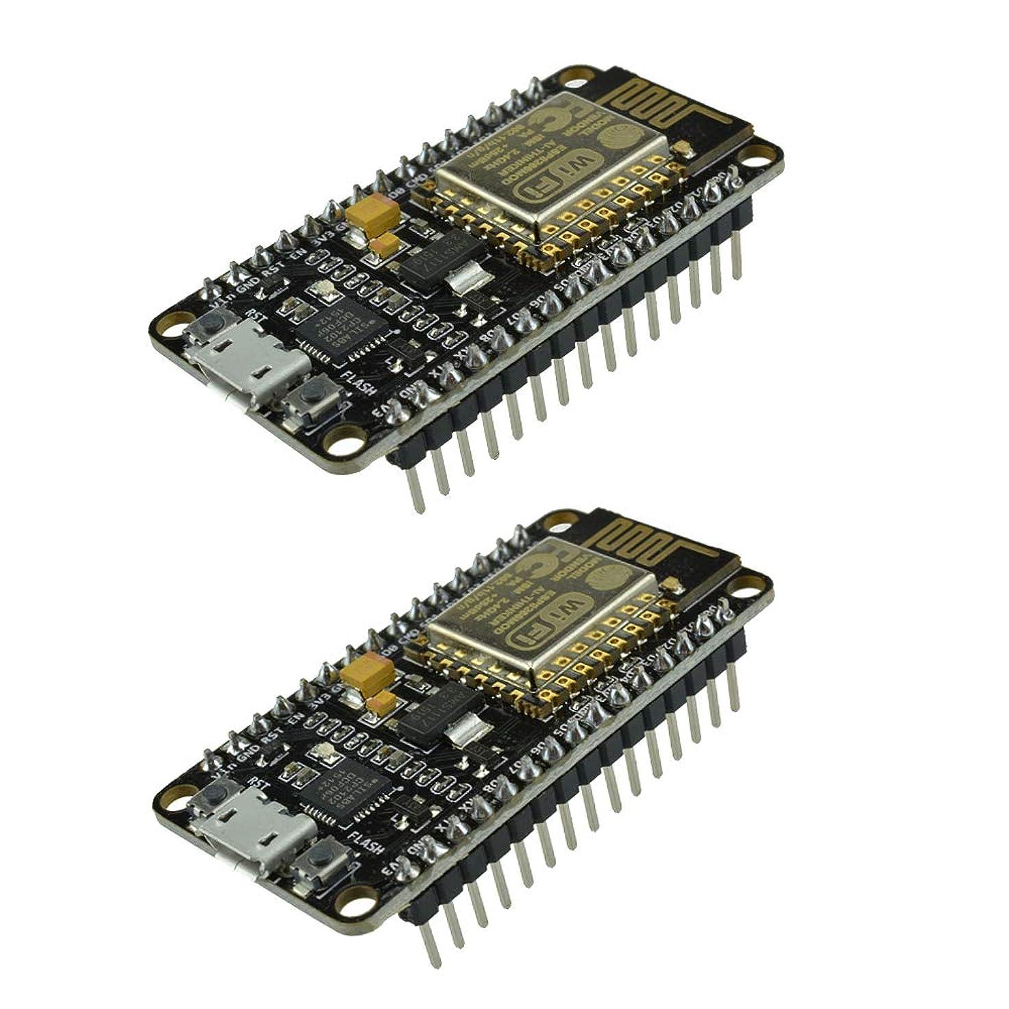 ポンド人気の受け入れ2個セット NodeMcu Lua V2 CP2102 ESP8266 ESP-12E WiFiモジュールワイヤレスマイクロUSBインターフェース 4MBモノのインターネット開発ボード