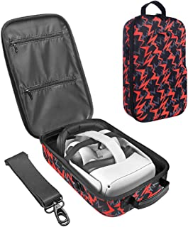 Esimen Fashion Travel Case for Oculus Quest/Quest 2 VR Gaming Headset and Controllers Accessories Carrying Bag (Orange)