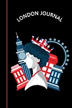 London Journal: Queen Elizabeth II London Eye Big Ben & Iconic Phone Box | Black & Red Diary & Writing Notebook | Daily Diaries for Journalists & ... Taking | Write about your Life & Interests