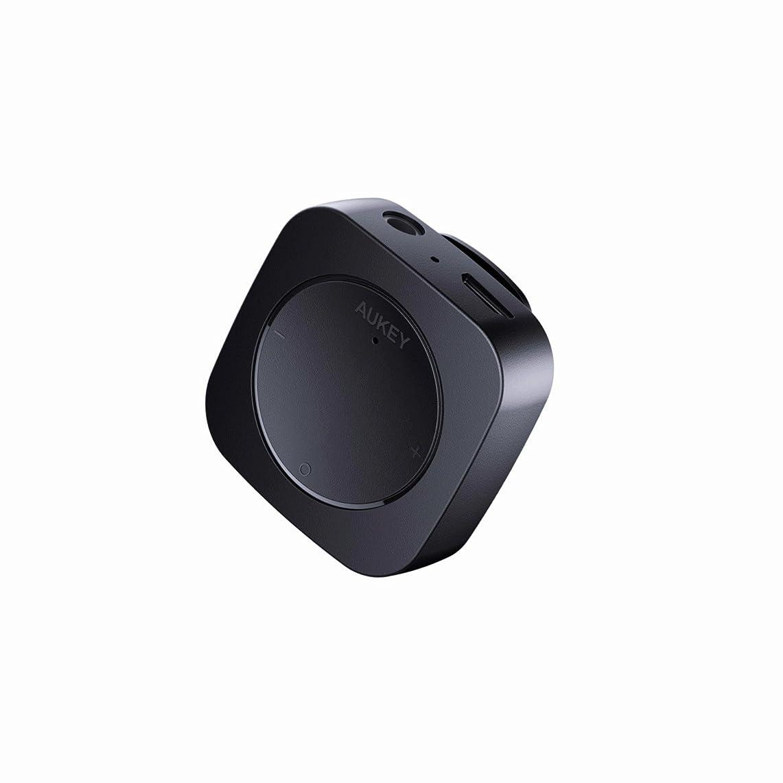 報奨金承認多様なAUKEY Bluetoothレシーバー ブルートゥースオーディオレシーバー 3.5mmミニプラグ接続 クリップ付き 2年間保証 ブラック BR-C13