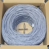 Premiertek 1000Ft Cat6 23AWG Bare Pure Copper UTP Solid 4-Pairs Network Ethernet LAN Cable Bulk Gray (CAT6-BC-1KFT-GY)