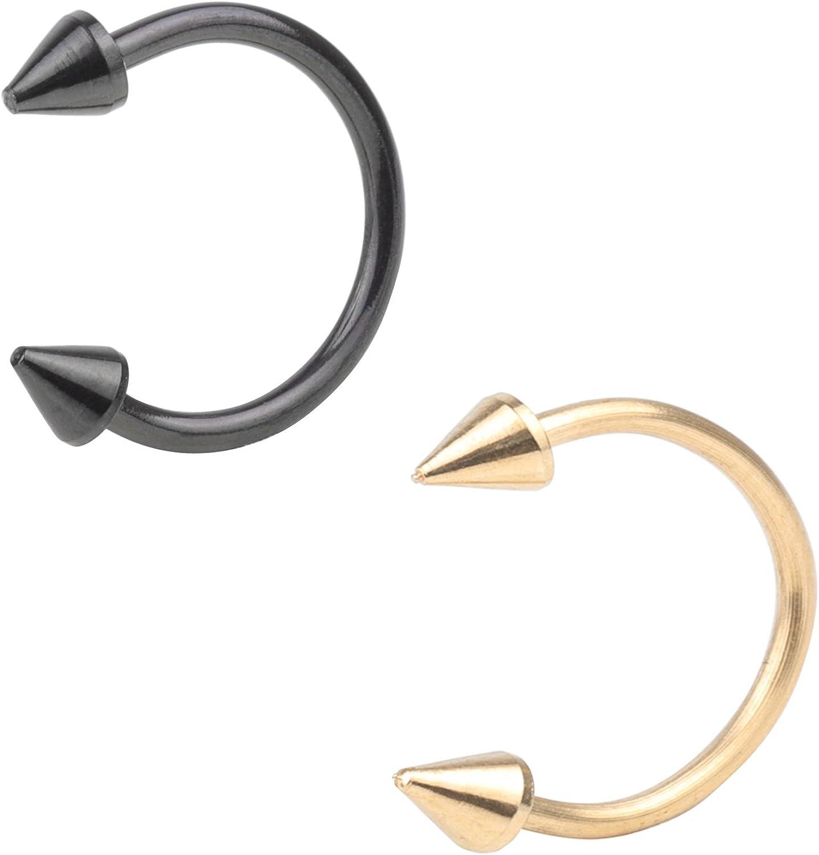 16G Limited Special Price Nose Septum 5 ☆ popular Horseshoe Hoop Tragus Pierci Lip Eyebrow Earring