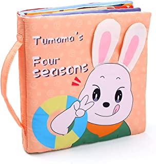 3D Cloth Book Soft Books Seasons Change Touch & Feel Shape Color Sensory Book Educational Activity Toys Gifts for Baby Inf...