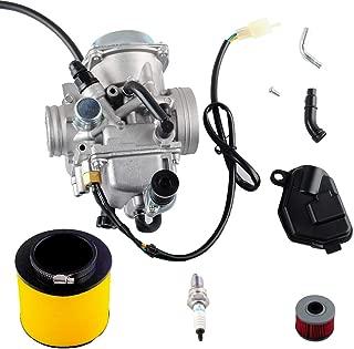 Wadoy Trx350 Carburetor with Air Filter for 2000-2006 Honda Rancher Trx350 Fe/Fm/Te/Tm/Es Atv 4 Stroke Carburetor