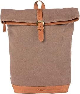 HOLZRICHTER Berlin Rolltop Rucksack No 4-3 aus Canvas & Leder - Damen & Herren Premium Daypack