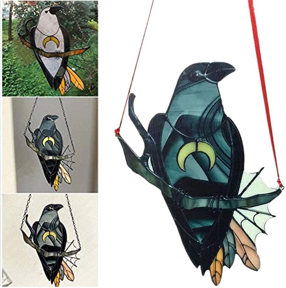 HYTG Crow Witch Ornament Pendant Crafts Mysterious Stained Mail order cheap Limited Special Price Sunca