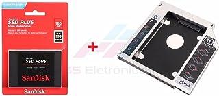 Kit SSD Sandisk PLUS 2.5´ SATA III 6Gb/s 120GB SDSSDA-120G-G27 + Adaptador Caddy 9.5mm