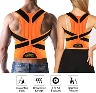 ZSZBACE Back Posture Corrector, Full Back Brace Shoulder Posture Correction for Upper and Lower Back Support, Brace to Improve Slouched, Back Pain, Thoracic Kyphosis (XL)