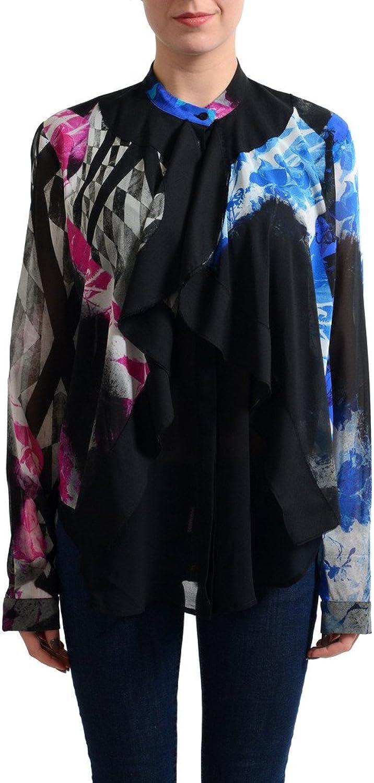 Just Cavalli Women's Multicolor Silk Blouse Top