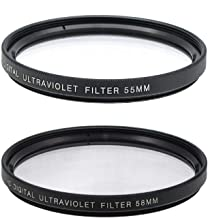 55mm and 58mm Multi-Coated UV Protective Filter for Nikon D3500, D5600, D3400 DSLR Camera with Nikon 18-55mm f/3.5-5.6G VR...