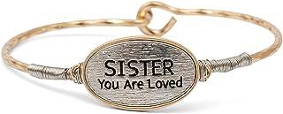 إلانز تصميم الأخت أنت أحب الذهب والفضي لهجة حجم واحد يناسب معظم المعادن الإسورة مشبك سوار