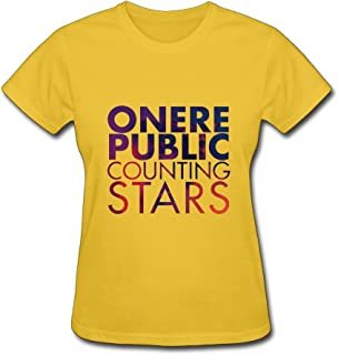 TBTJ OneRepublic Counting Stars T-shirts For Women