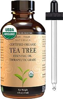 Organic Tea Tree Essential Oil (4 oz), USDA Certified, 100% Pure Essential Oil, Therapeutic Grade, Melaleuca alternifolia by Mary Tylor Naturals