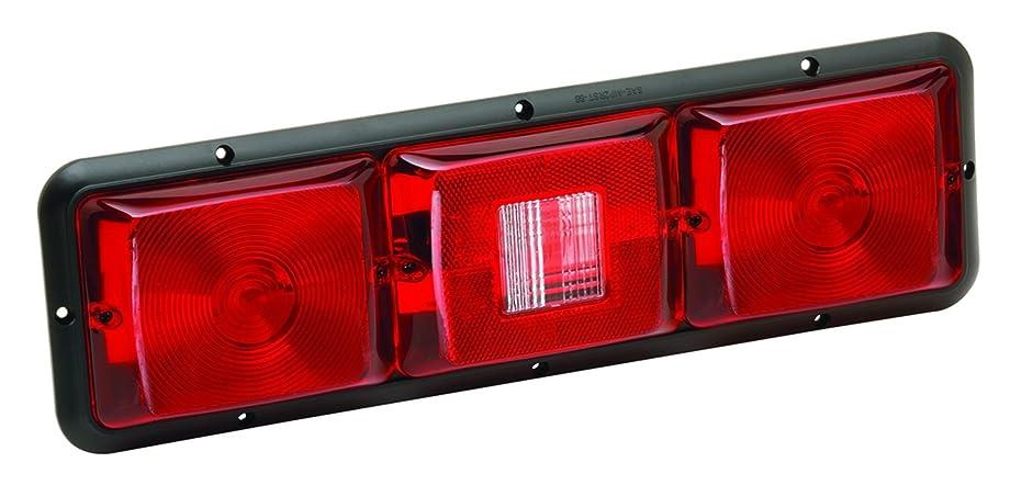 Bragman 84 Series Standard Taillight (Recessed Triple Long Horizontal Red, Backup, Red-Black Base)