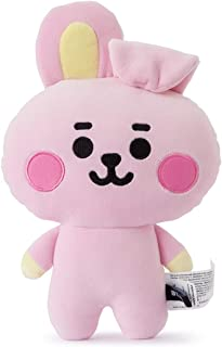 BT21 Official Merchandise by Line Friends - Baby Series Cooky Character Figure Mini Flat Decorative Body Cushion Pillow, Pink
