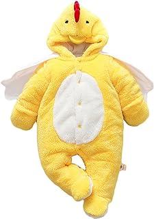 Agares Baby Mädchen Jungen Fleece Overall Winter Strampler Jumpsuit Karneval Fasching Kostüme