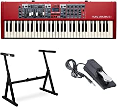 Nord Electro 6D 61-Key Semi-Weighted Action Keyboard with Nine Drawbars Bundle Includes Knox Z-Style Stand and Sustain Pedal