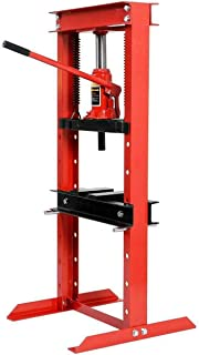 Goplus 12 Ton Hydraulic Floor Shop Press H-Frame w/Heavy Duty Steel Plates