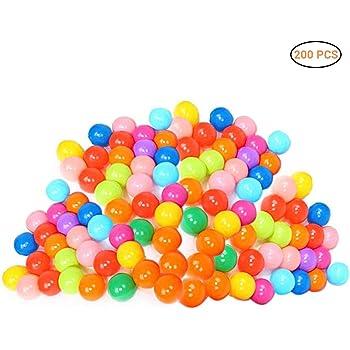 Heylas - 200 Pelotas de plástico rellenas de Aire, 8 Colores Vivos ...
