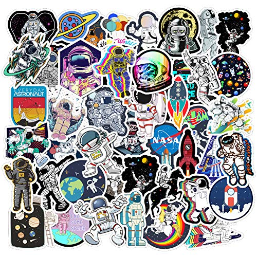 RGBEE Aufkleber Sticker Set 50 Stücke, Astronaut Aufkleber Graffiti Sticker für Laptop Koffer Helm Motorrad Skateboard Auto Fahrrad Computer Stickerbomb