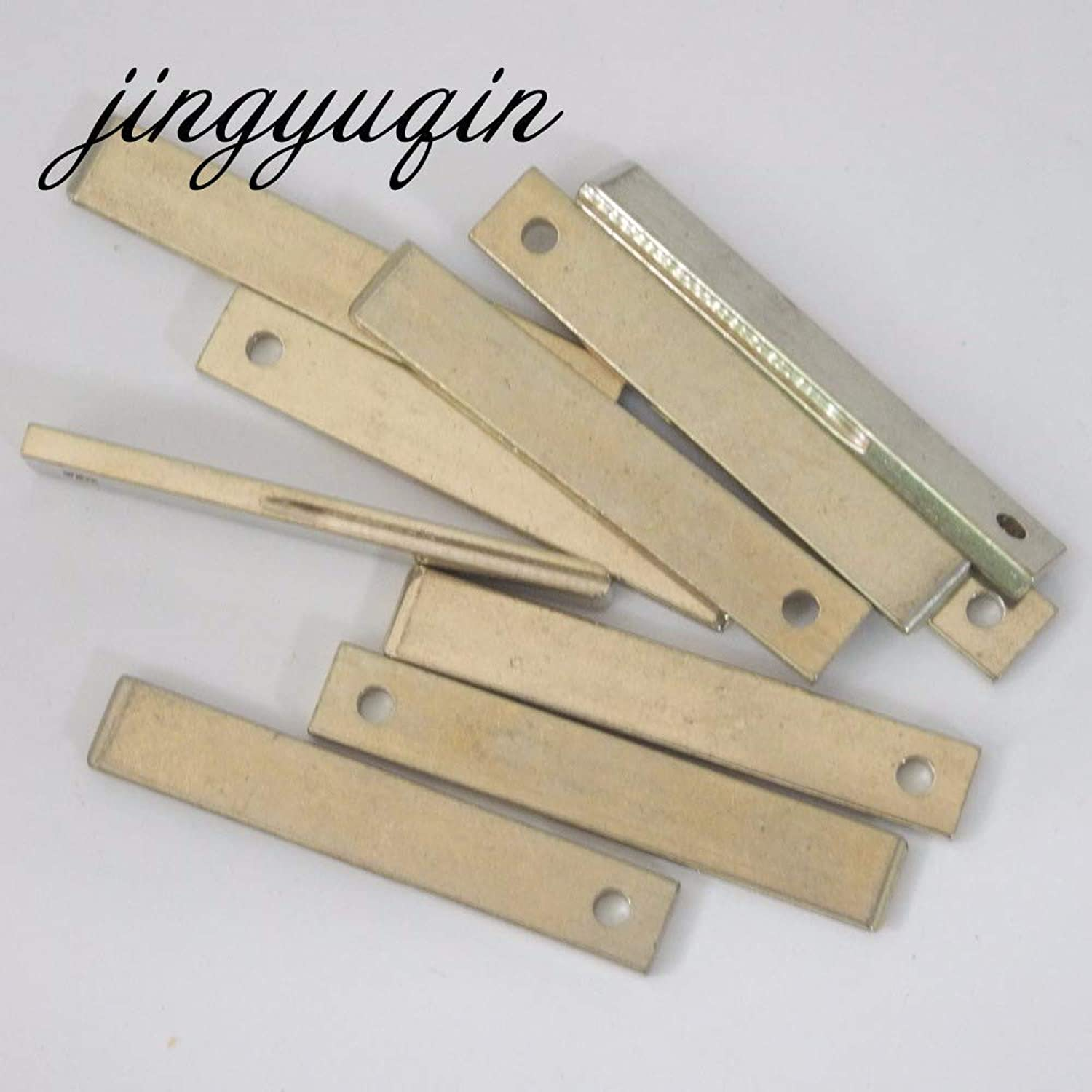 Jingyuqin HU83 Blank Key Replacement Uncut Blade with Groove on Side for Peugeot 307 Citroen Car Key 20pcs lot