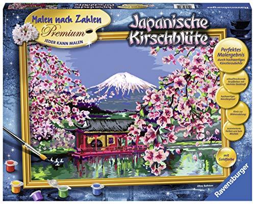 Ravensburger Malen nach Zahlen 28841 - Japanische Kirschblüte - Perfektes Malergebnis durch hochwertiges Künstlerzubehör, ohne Rahmen