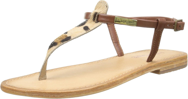 LES TROPEZIENNES par M BELARBI Womens Narvil Flat Leather Toe Post Sandals
