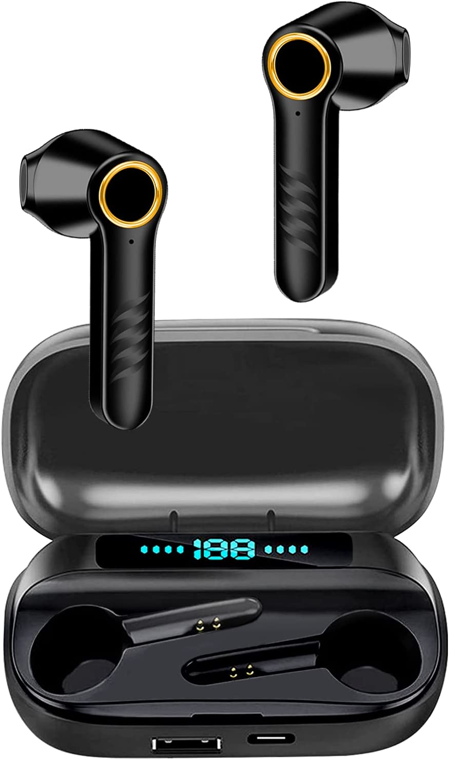 Wireless Earbuds Bluetooth Headphones 36H Play Back Earphones TWS Deep Bass in Ear Waterproof with Microphone Led Display
