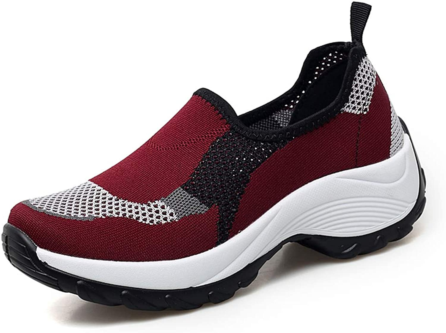 Women Casual Air Mesh Breathable shoes Fashion Lace-up Wedges Sneakers Hollow Out Female shoes