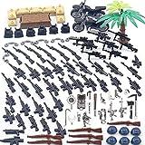 WWEI Juego de armas militares WW2 para niños, minisoldados, figuras SWAT compatibles con Lego -CT802