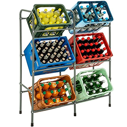 TecTake Stabiles Kistenregal Getränkekistenregal Kastenregal - Diverse Modelle - (für 6 Kästen | Nr. 401728)