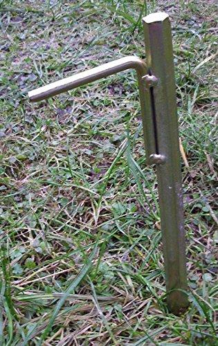 4 Stück 50cm extrem stabile Zelthering Bodenanker Erdspieße Bauanker