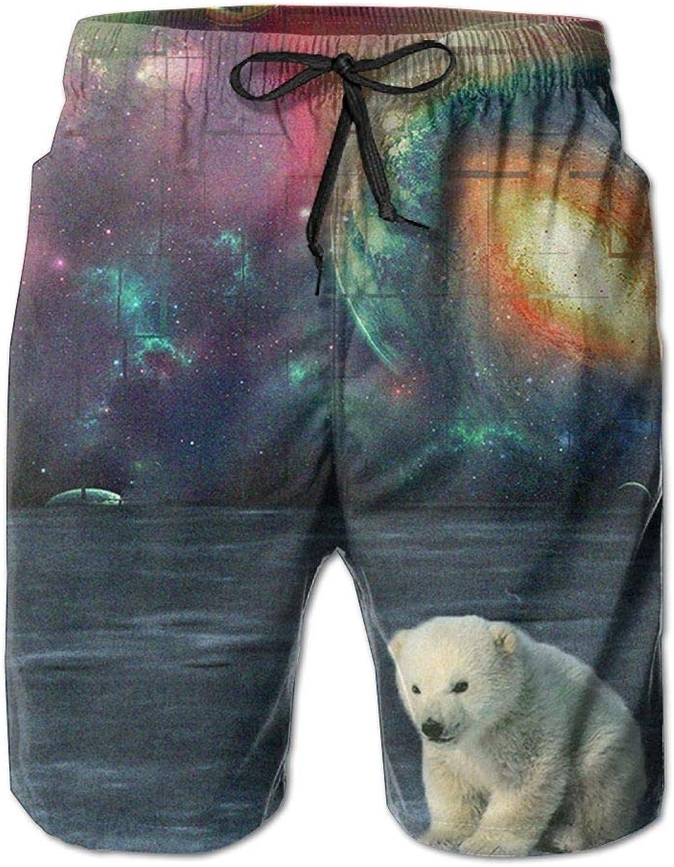 dbeff972a9 Quick Dry Men's Beach Board Shorts Trippy Polar Bear Bear Bear Surfing Swim  Trunks Beachwear With Pockets 6018ec