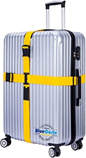 BlueCosto (Yellow) Adjustable Cross Luggage Strap Suitcase Belts