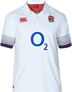 Canterbury England Home Classic Jersey T Shirt 2017 2018 Mens Rugby White/Blue