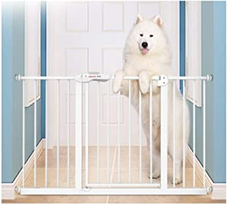 Expandable Pet Fence Baby Gates for Stairs Fence Isolation Door Dual Lock Self Closing