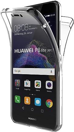 Funda Huawei P8 Lite 2017, AICEK Transparente Silicona 360°Full Body Fundas para Huawei P8 Lite 2017 Carcasa Silicona Funda Case